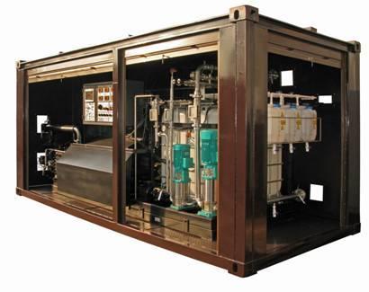 Asphalt bitumen emulsion plant GlobeCore UVB-1 in the container